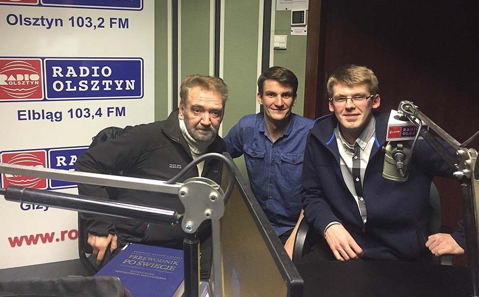 Sławomir Stelmaczonek, Maciej Stafiej i Krzysztof Groth w Radiu Olsztyn