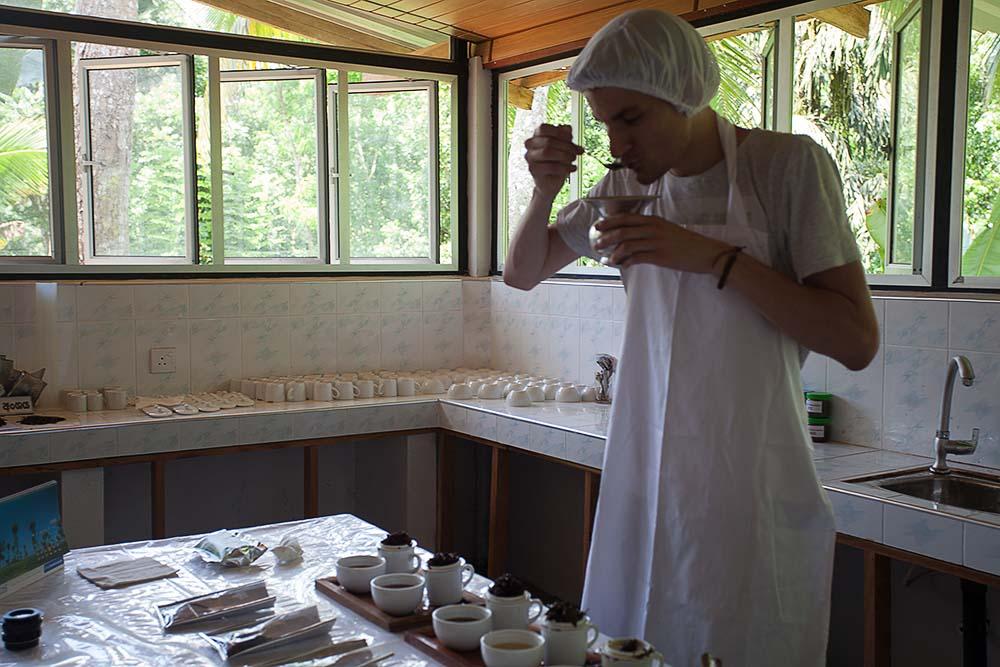 Testowanie herbaty na Sri Lance - z zestawu kiperskiego na plantacji herbaty