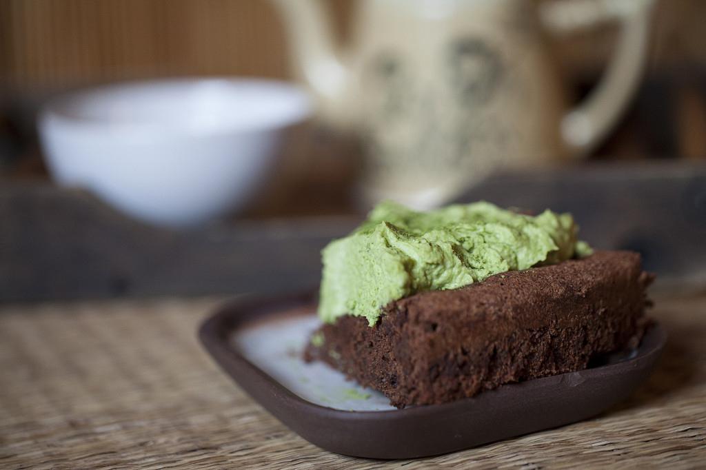 Ciasto z matchą zieloną japońską herbatą