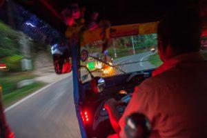 Kierowca tuk tuka na Sri Lance
