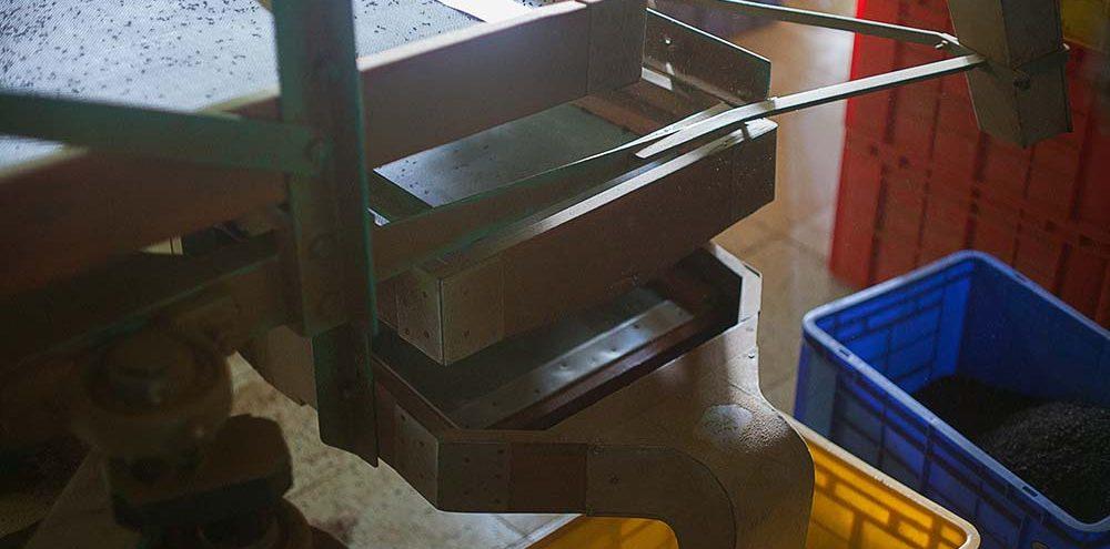 Maszyna służąca do selekcjonowania liści herbaty pod kątem ich rozmiaru