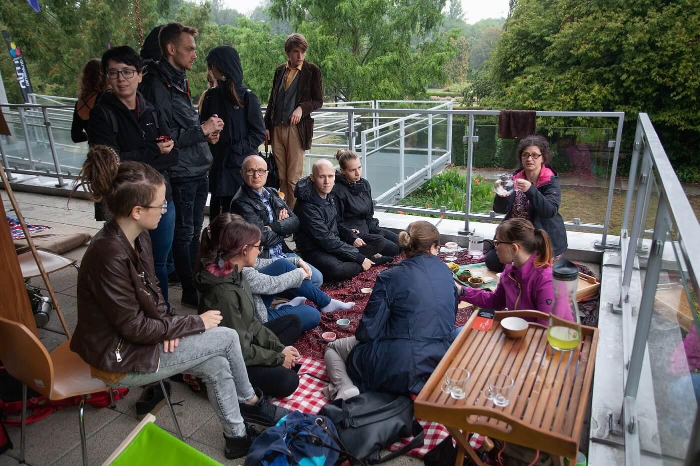 Poznański Festiwal Herbaty w Poznaniu, jedna z ceremonii parzenia herbaty