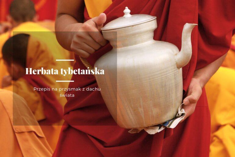 Herbata tybetańska - niesiona przez mnicha w tradycyjnym tybetańskim dzbanku